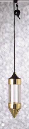 Füllpendel Messing/Plexiglas mit Faden